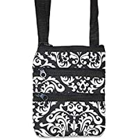 Ever Moda Damask Crossbody Bag