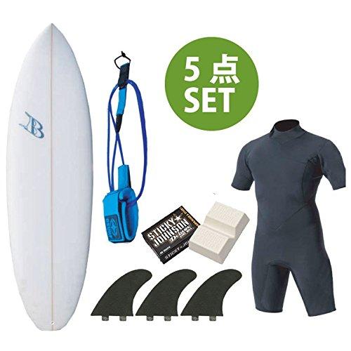 ショートボード おまかせフルセットC Blue Surfboard SDJ ウェットスプリングスーツ フィン デッキパッド ボードケース リーシュコード ワックス