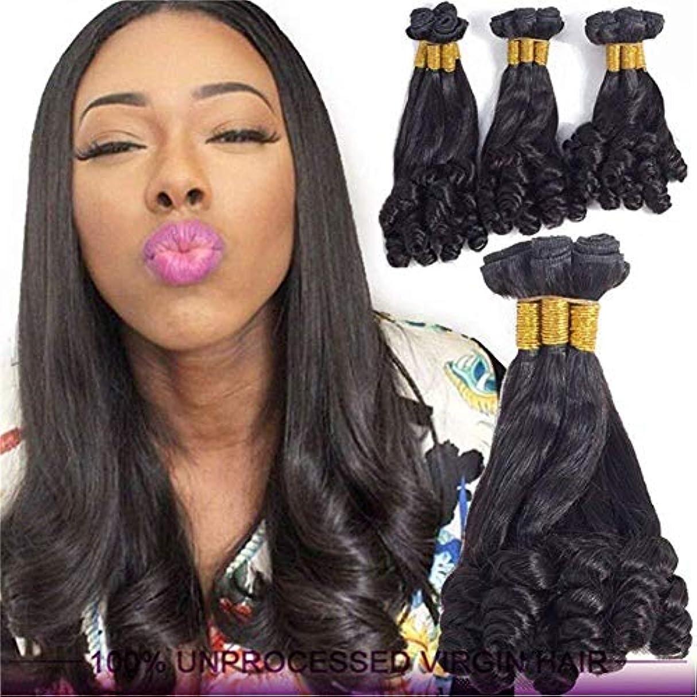 BeTTi アフリカのバージンヘアエクステンション8aブラジルバウンシーカーリー織りセクシーな女性フルウィッグナチュラルカラー耐熱安いのためパーティーウィッグデイリードレス高密度 (Color : 10)