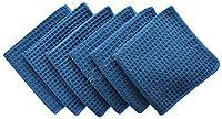 "Generic Dark Grey, United Kingdom : Sinland 6 PCS 13""x13"" 380g Thick Microfiber Waffle Weave Kitche Dish Drying Towels Washcloths Face Hand Towels Dark Navy Blue"