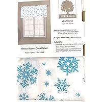 Laurel公園ブルーSnowflake Window Valance , 54-inch X 17インチ