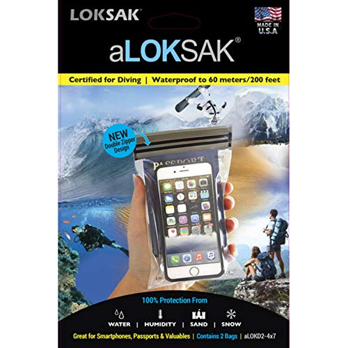 ロックサック LOKSAK ALOKD2-4X7 aLOKSAK 4X7 (2pk) 防水ケース XS 2パック