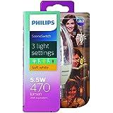 Philips LED Scene Switch Light Bulb (E14 Edison Screw 5.5W B38) - Warm White