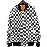 (シュプリーム)SUPREME 【16SS】【Reversible Checkered MA-1】リバーシブルチェッカー柄MA1ブルゾンジャケット(M/オレンジ×ブラック×ホワイト) 中古