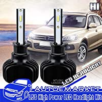 FidgetGear H1 Headlight Bulb CSP Chip Conversion Kit For Mini Cooper VW Beetle Low Beam