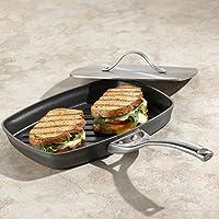 新しいブラックキッチン3レイヤーノンスティック長方形アルミニウム蒸気グリルPaniniパン