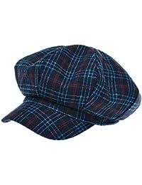 [PLIC N PLOC]EMN11.タータンチェックウール混レトロメンズレディース ベレー帽 鳥打ち帽 ハンチングフラットキャップ