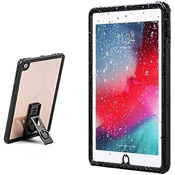 サンワダイレクト iPad 9.7 (2018/2017)専用 ハードケース スタンド付き 耐衝撃 防水 リングホルダー付 首掛け・肩掛け対応 200-TABC019WP