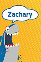 """Zachary: Personalized Shark Handwriting Practice Paper for Kids notebook 120 pages 6""""x9"""""""