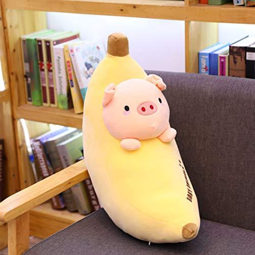 バナナブタ ぬいぐるみ ぶた豚抱き枕 60CM ふわふわ もちもち かわいい 動物 おもちゃ 大きい 子供 彼女へ 誕生日 プレゼント 贈り物 ふかふか 柔らかい お祝い 入園祝い 入学祝い バレンタイン