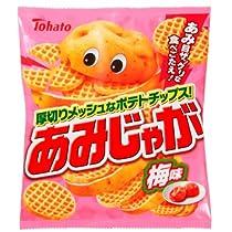 東ハト あみじゃが 梅味 70g×12袋