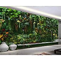 Ansyny カスタム写真の壁紙壁画熱帯雨林の花植物の緑の葉の壁の装飾的な絵画の壁紙家の装飾-130X100CM