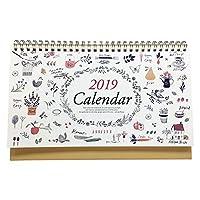 2019 卓上カレンダー 月次カレンダー ナチュラル
