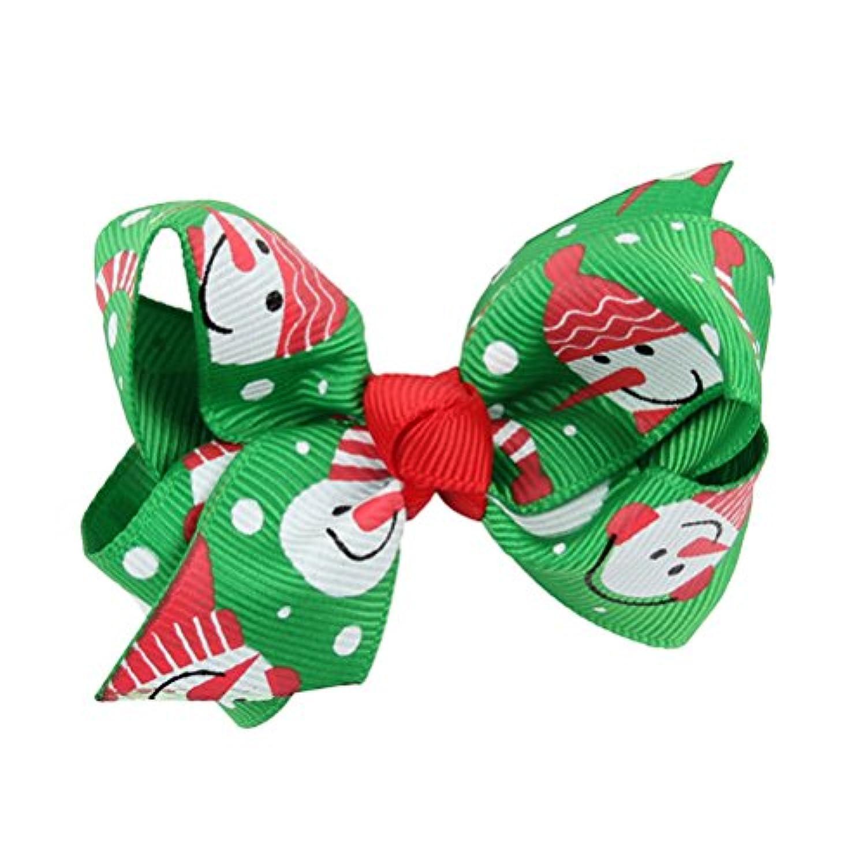Zhhlaixing ベビー小物 Christmas Kids Baby Bowknot Hairpin Headdress Hair Clips Ribbon Hair Accessories Girls