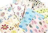 ★ベビー 夏 おくるみ 赤ちゃん ガーゼタオル ブランケット 3枚セット(ブルー系)