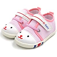 HLM Baby Shoes Sneakers Infant Girls Boys Walking Tennis Canvas Pink Toddler