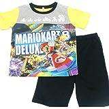 マリオカート8デラックス 光るパジャマ 半袖パジャマ バンダイ スーパーマリオ 2462489 (イエロー, 120cm)