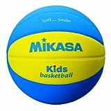 ミカサ バスケットボール キッズバスケット 5号 スマイルボール ブルーXイエロー