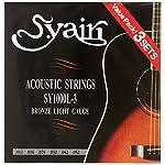S.Yairi アコースティックギター弦 SY-1000L-3 3セットパック ライト (012-052) SY-1000L-3