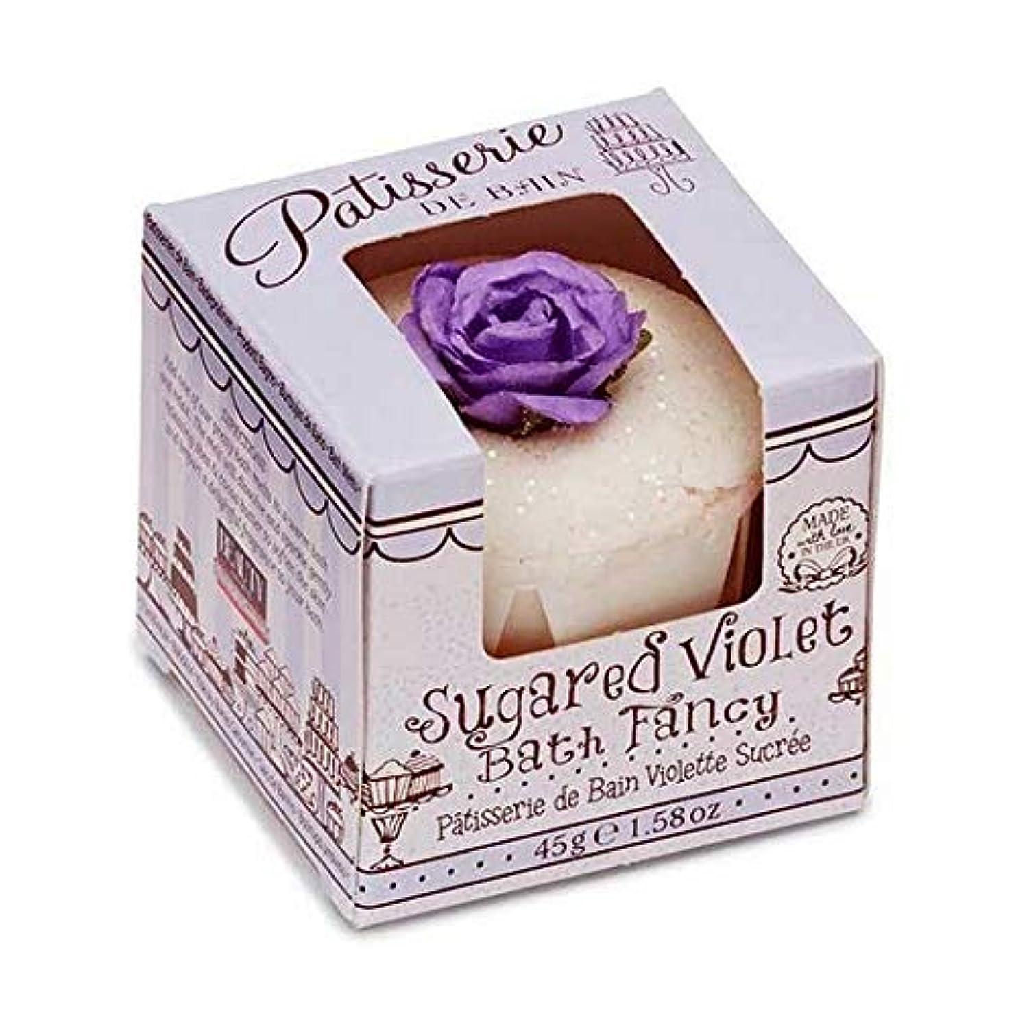 一貫性のない消費者しゃがむ[Patisserie de Bain ] パティスリー?ド?ベイン砂糖紫箱入り風呂メルト45グラム - Patisserie de Bain Sugared Violet Boxed Bath Melt 45g [並行輸入品]