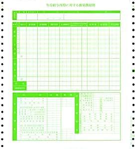 オービックビジネスコンサルタント 単票源泉徴収簿 09-SP4161