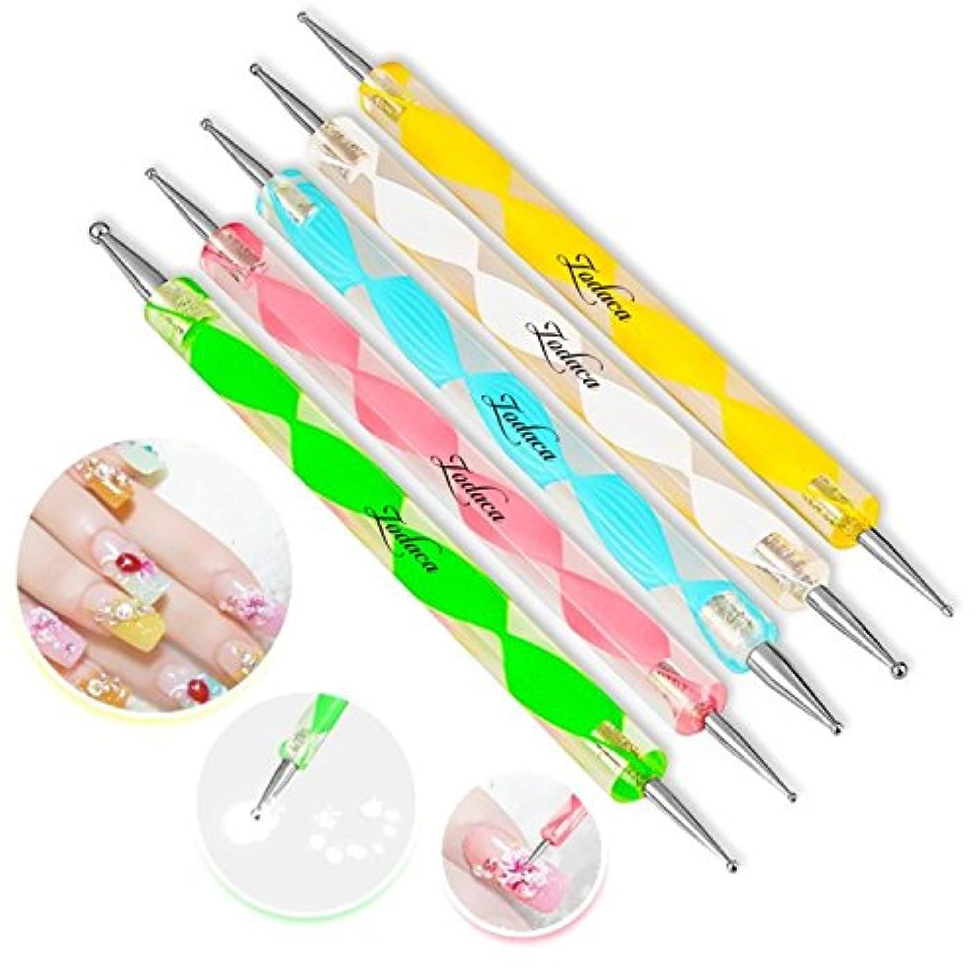 Gespout ネイルアート ドッティング マニキュア ツール キット 5本セット ネイルアートスティック 人気なセット 高品質 ドットペン ネイルデザイン マニキュアペン ネイルブラシ 装飾ツール