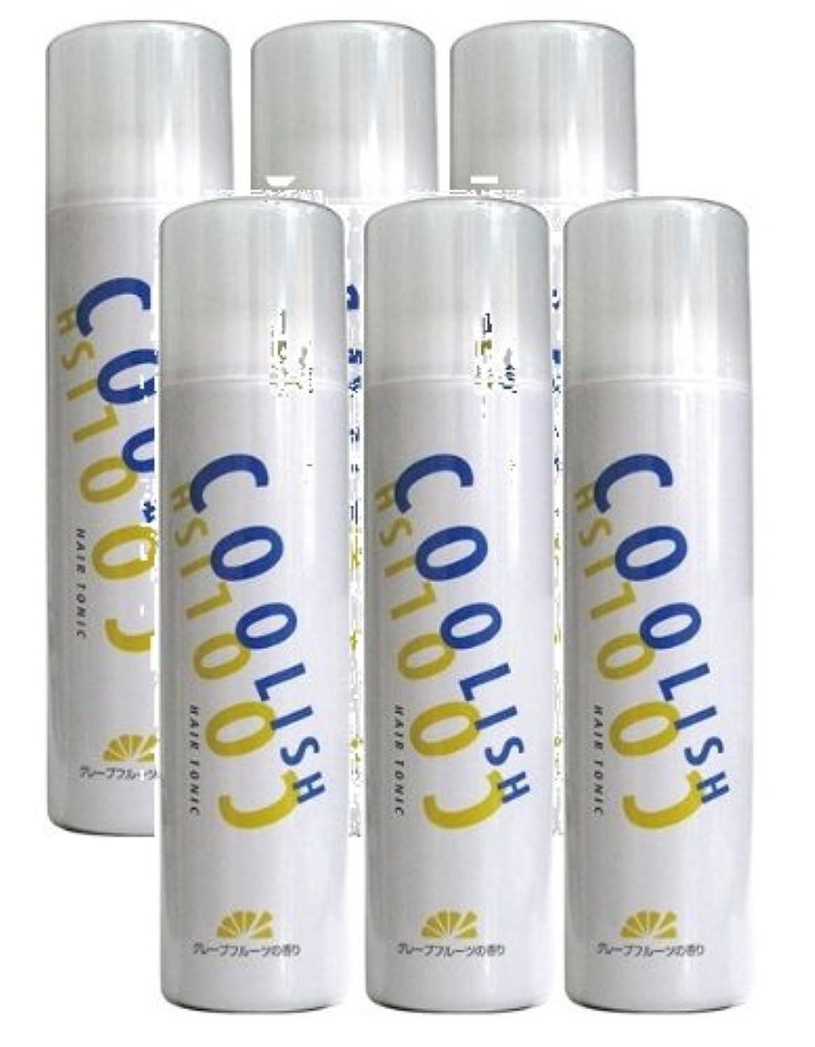 電気の永久乳白中日製薬 クーリッシュ ヘアトニック 300g【お得な6本セット】