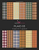 Plaid 03: Scrapbooking, Design and Craft Paper, 40 sheets, 12 designs,  size 8.5