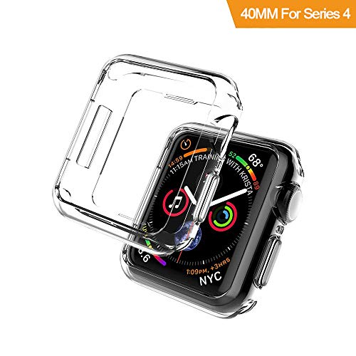Gosento Apple Watch Series 4 40MM ケース 高品質 クリスタル クリア 透明 アップル アップルウォッチ 40MM TPU素材 Watch 4 40MM 保護カバー (クリア)