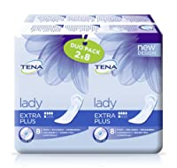 TENA Lady Extra Plus Towels Duo Pack - 3 x Packs of 16 ( 48 Towels ) by Tena
