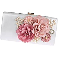 Baoblaze Handmade Elegent Flower Box Evening Party Wedding Bridal Handbag Clutch Handbags