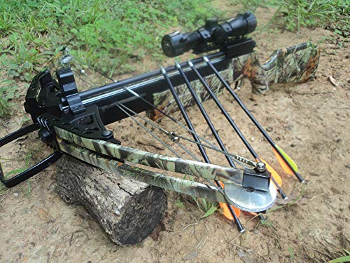 175 lbs WT GOLIATH STEEL BALL CROSSBOW with 3 x 32 Scope (balls and arrows)