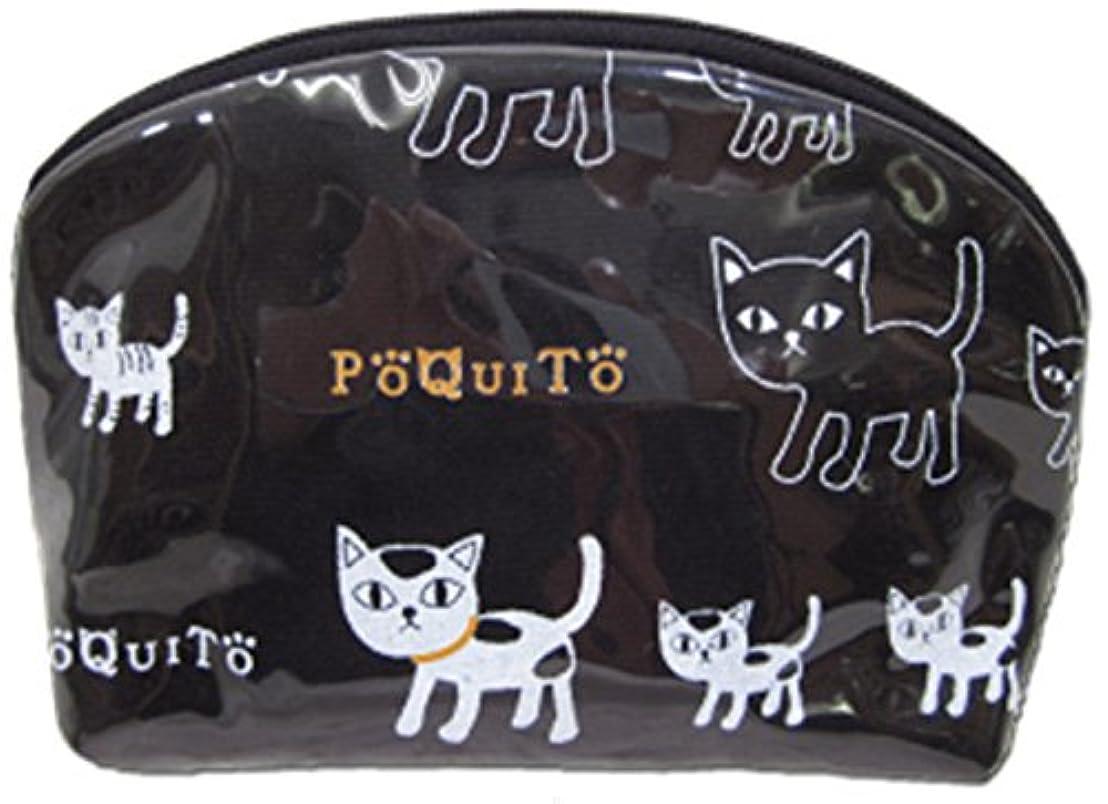 放映しばしば壊すGV 猫グッズ ポーチ ポキート A ブラック 537331