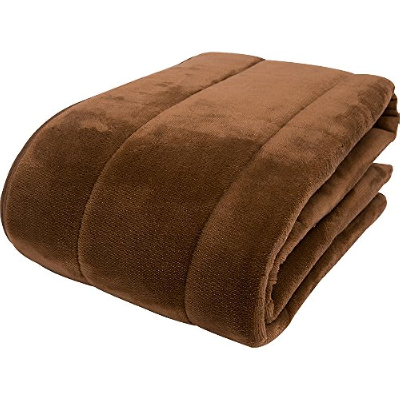 京都西川 敷きパッド カラーフランネル ブラウン シングル 100×205cm なめらかな肌触り 洗える 2NGC6403S