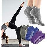 Pilates Yoga Grip Socks for Women- 3Pairs