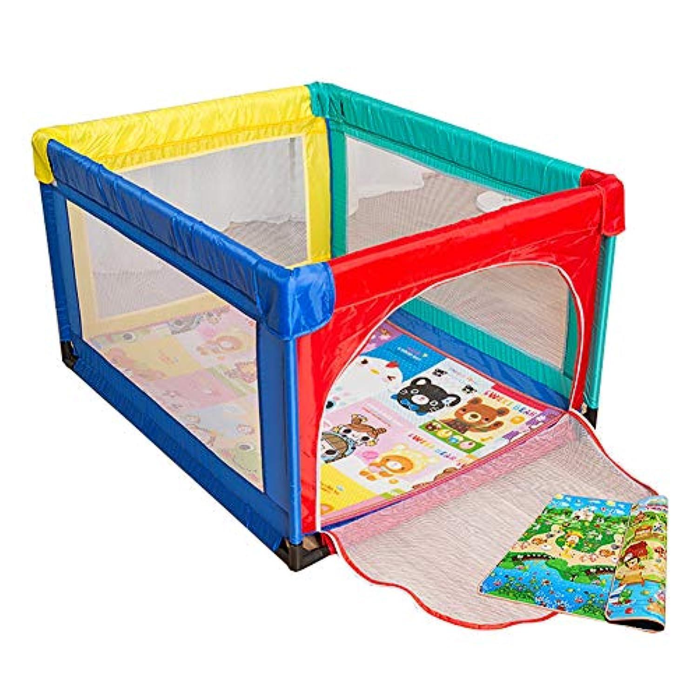 乳幼児のためのマットレスフルサイズのポータブルプレイグラウンドを持つ赤ちゃんの遊び場アンチコリジョンエクストララージキッズ遊び場 (サイズ さいず : 95×120cm)