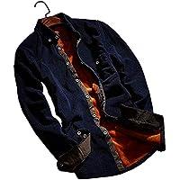 [キュアキュア] 長袖 裏起毛 シャツ ジャケット 厚地 メンズ