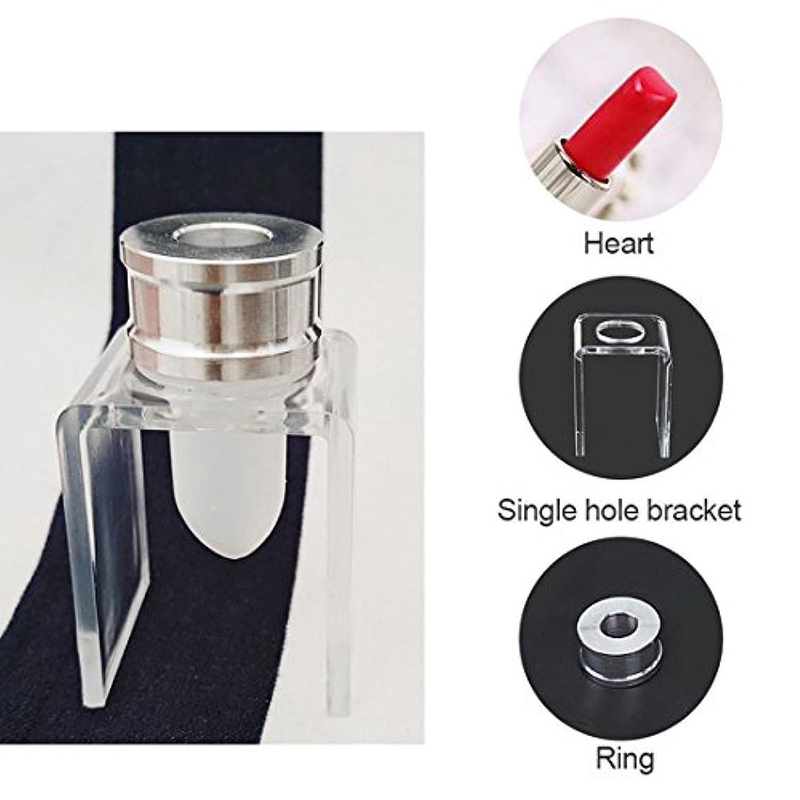 市場主に誕生Cikuso 3セット DIY 12.1mm シンプルな口紅充填チューブ ハート型 シリコーンモールド アルミリング シングルホールブラケット 自家製口紅ツール シンプルセット