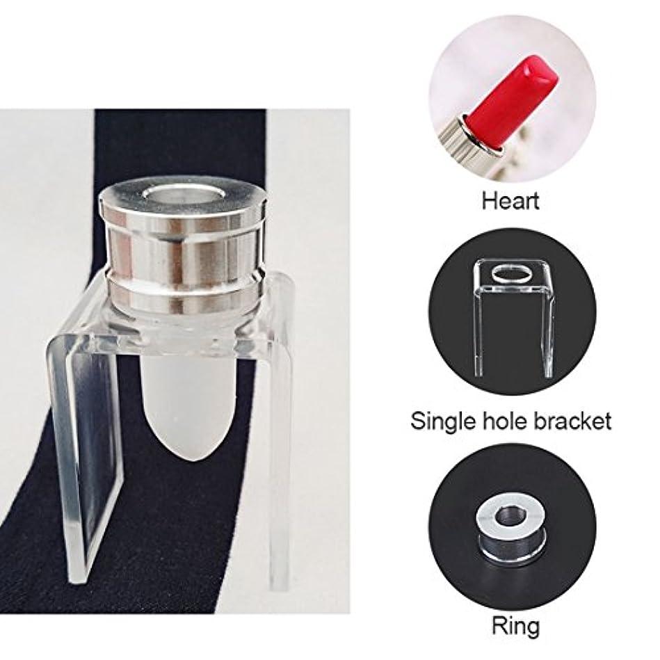 血まみれのサイトラインペルメルGaoominy 3セット DIY 12.1mm シンプルな口紅充填チューブ ハート型 シリコーンモールド アルミリング シングルホールブラケット 自家製口紅ツール シンプルセット