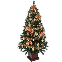 クリスマス屋 クリスマスツリー 150cm 木製ポット ツリーセット コパー&ゴールド