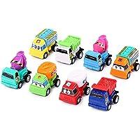 Ghazzi 8pcs / Set Mini Pull Back Cartoon Car Toy for Children Gifts Developmentalインテリジェンスおもちゃforキッズパズル教育学習おもちゃGrowing ExperimentギフトおもちゃPretendおもちゃ幼児おもちゃ Ghazzi0522