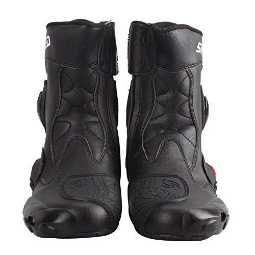 強化防衛性PRO スポーツバイク用レーシングブーツ/オートバイ靴/PRO SPEED ブラック&42(26-26.5CM約)