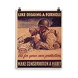 ヴィンテージポスター–取りかかるLike a foxhole 0673–Enhancedマット紙ポスター 16x20