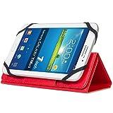 【 背面カメラ 使用対応 】 ahha 日本正規品 7インチ タブレット 汎用 スタンド機能 つき ブックタイプ スリム フリップ ケース, チャンピオン・レッド 7inch Universal Tablet Flip Case KAPEE, Champion Red iPad mini3 /2/1, Android, Windows タブレット A-TC00A070-UK09