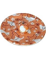 9-44 ねこランド(オレンジ) 9cm香皿 日本製 お香立て 陶器 猫柄