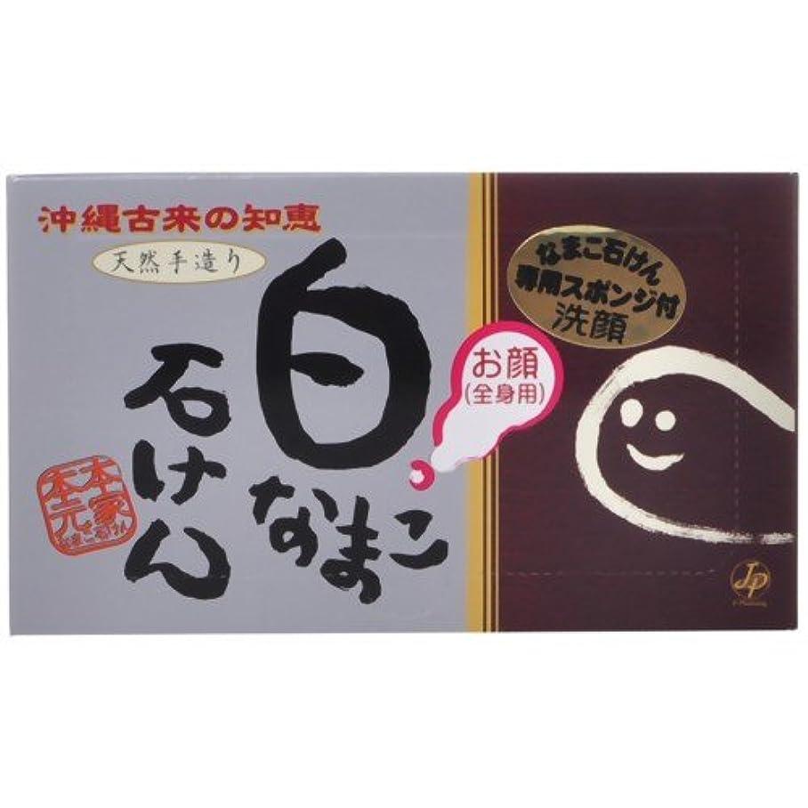 白なまこ石けん なまこ石鹸 (スポンジセット) 90g  (お顔?全身用)