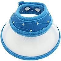 Pet Cuisine(ペットキュイジーヌ) ペット用品 犬 猫小動物用エリザベスカラー ソフトタイプ 軽量 丈夫 押しボタン式 M ブルー