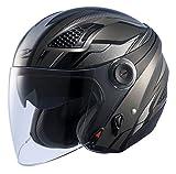 ナンカイ(NANKAI) ZEUS HELMET ゼウス レイヤー ジェットヘルメット ガンメタ/シルバー XL NAZ-213 LAYER