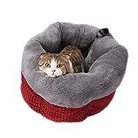 GAOLILI 猫のトイレ冬の暖かい厚い猫の家の猫の寝袋キティの子犬のペットテディケンネルの猫のトイレの冬の消耗品