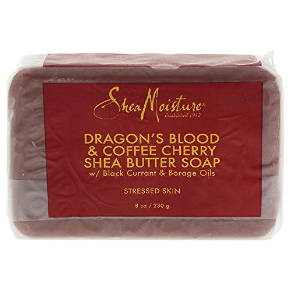コンピューター花弁急ぐShea Moisture バーソープ (Dragons Blood & Coffee Cherry Shea Butter Soap - S)
